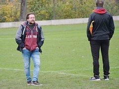Fotbalový trenér Vrdů David Plašil.