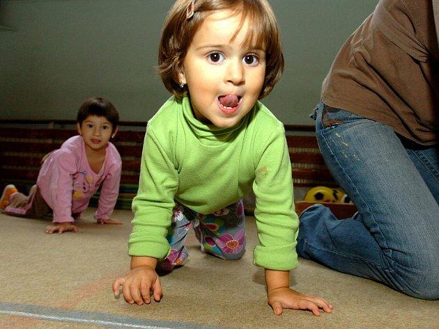 Cvičení s Terezou v kutnohorském rodinném centru Špalíček
