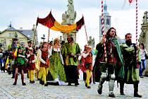Slavnostní průvod u příležitosti Královského stříbření Kutné Hory.