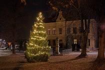Vánoční stromek v Sudějově.