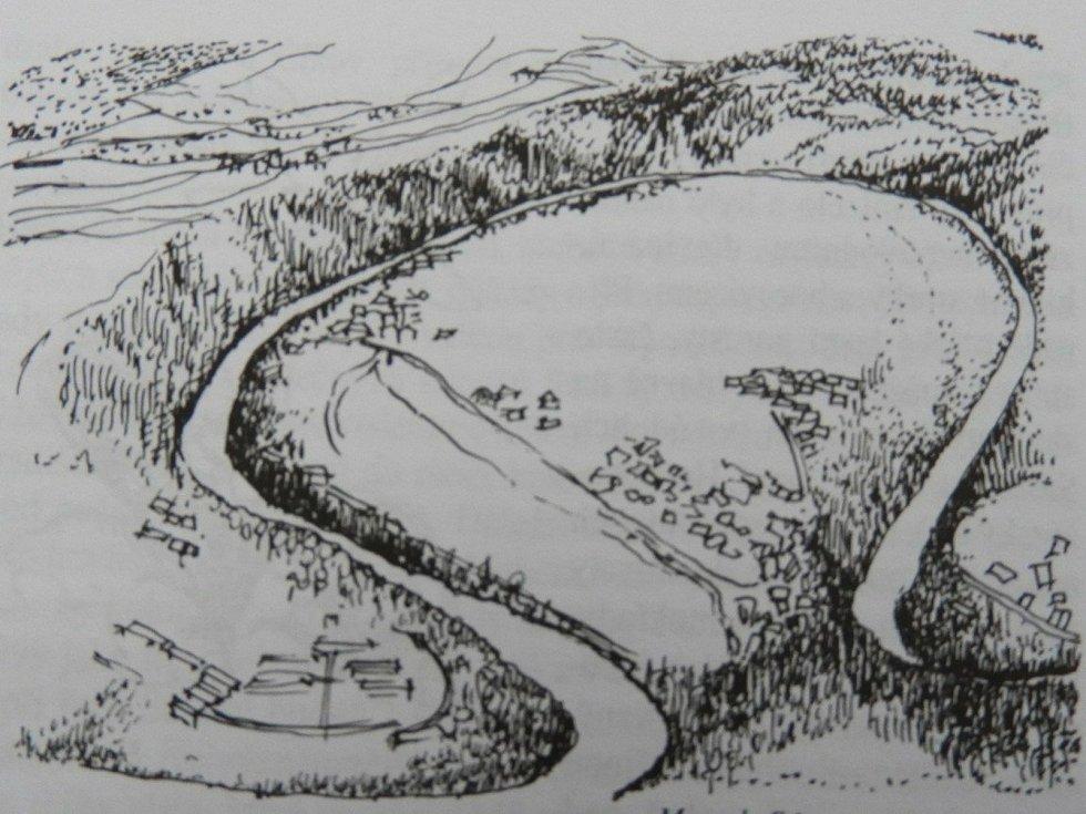 Přívlacká mušle, meandr řeky Sázavy.