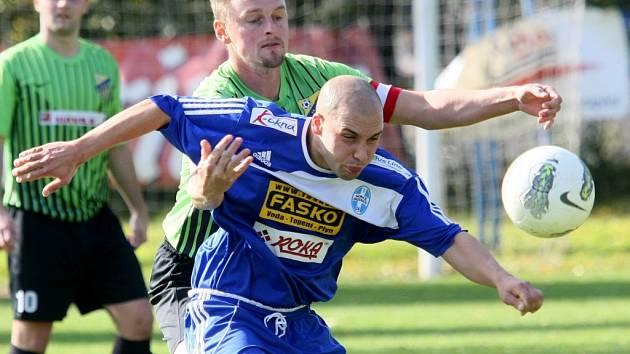 Liberec sport fotbal KP  Mistrovské utkání ve fotbale muži FK Krásná Studánka a Sokol Bozkov.