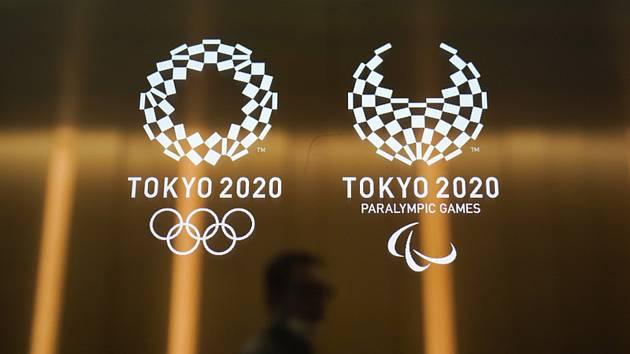 Logo olympiády a paralympiády v Tokiu.