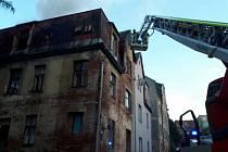 V Liberci hořel dům.