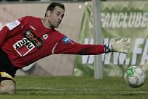 Brankář Michal Špit byl včera v Alkmaaru velkou oporou jabloneckých fotbalistů, nicméně dvakrát kapituloval.