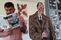 Výstavu mnoha komiksových originálních i přetištěných komiksových stripů najdete do 29. září v prvním poschodí Knihkupectví Fryč.