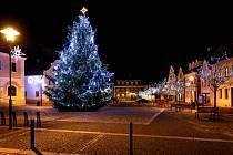 Vánoční strom v Hrádku nad Nisou.