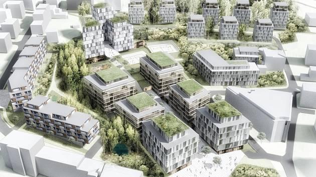 DOČKÁME SE? Tak by podle projektu mělo vypadat budoucí sídliště.