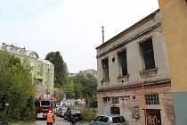 Požár domu v centru Liberce