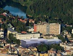 Celkový pohled na areál nemocnice