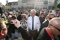 Miloš Zeman v České Lípě.
