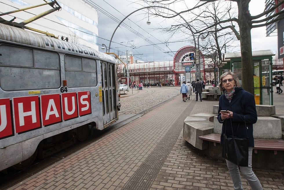 Tramvajová doprava v Liberci.