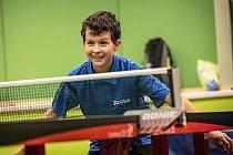 MICHAL BLINKA. Talent libereckého stolního tenisu.