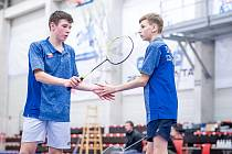 STŘÍBRO. Jan Rázl (vlevo) získali s Danielem Dvořákem stříbrnou medaili ve čtyřhře chlapců kategorie do sedmnácti let na turnaji ve Slovinsku.