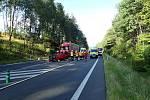 Ranní provoz na silnici I/13 narušila nehoda.