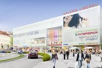Takhle nějak by to mělo vypadat na Perštýně na podzim roku 2009. V této lokalitě vyroste obří obchodní centrum Galerie Liberec, které nabídne 100 nových obchodů.