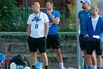 Trenérský štáb Slovanu. Petr Myslivec (vlevo) a Petr Papoušek (vpravo).