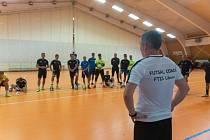 Futsalisté Liberce při jednom z tréninků.