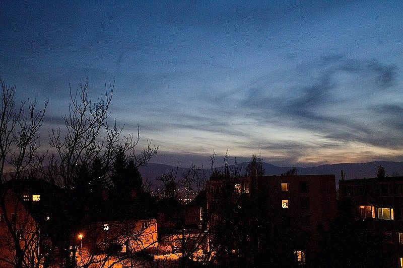 Soumrak nad Libercem.