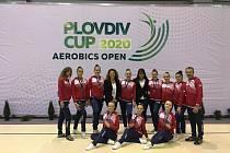 BRONZOVÁ GRUPA. Sport Aerobic Liberec získal na závodech v Bulharsku dvakrát bronz.