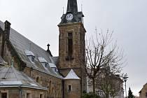 Evangelický kostel Chrám Pokoje stojící poblíž Horního náměstí v Hrádku nad Nisou.