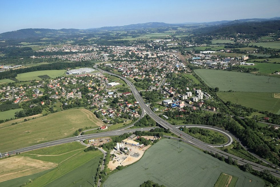Letecký pohled Ohrazenice.
