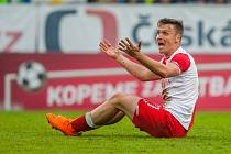 Utkání Slovanu Liberec proti Slavii Praha. Stanislav Tecl