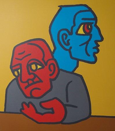 RŮZNÉ SMĚRY, 2006-2012, digitální tisk na plátně, 85x75 cm.