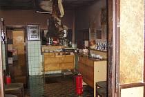 Požár v restauraci v ulici Obránců míru v Lomnici nad Popelkou.