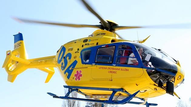 Vrtulník liberecké záchranky.