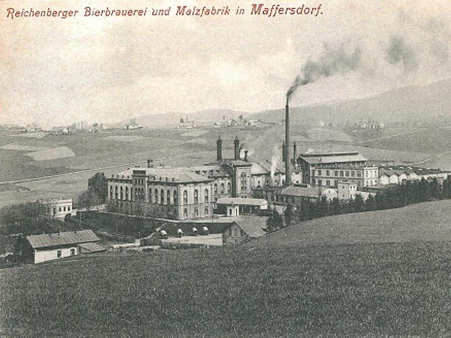 Historická pohlednice vratislavického pivovaru z počátku 20. století.