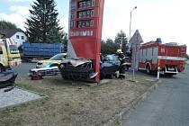 Dopravní nehoda osobního automobilu.