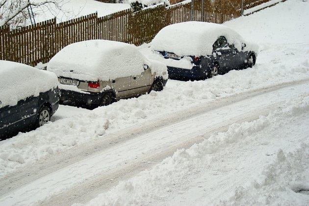 Zasněžený Liberec.