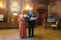 Manželé Hihlánovi oslavili zlatou svatbu.