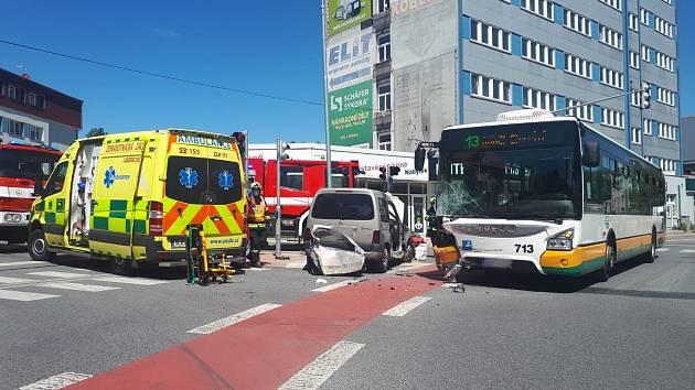 Dopravní nehoda v Liberci.