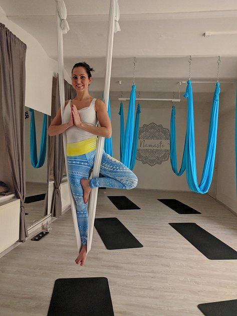 Magdalena Klížová při létající józe.