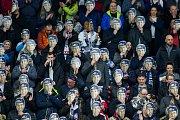 Utkání 46. kola WSM ligy ledního hokeje se odehrálo 3. února v liberecké Home Credit areně. Utkaly se celky HC Benátky nad Jizerou a Rytíři Kladno. Na snímku jsou fanoušci Liberce.