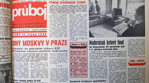 Nástupem Gorbačova se ledy začaly lámat. Stranický tisk severočeských komunistů ale držel tvář.