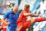 Slovan Liberec (modří) doma s Brnem jen remizoval 0:0.