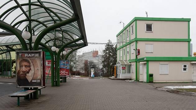 Liberecké autobusové nádraží.