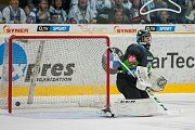 Utkání 6. kola Tipsport extraligy ledního hokeje se odehrálo 30. září v liberecké Home Credit areně. Utkaly se celky Bílí Tygři Liberec a BK Mladá Boleslav. Na snímku je branářk Gašper Krošelj.