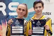 Míša Vacek a Lucka Králová skončili pátí.