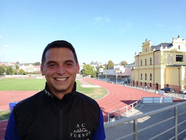 Vedoucí trenér AC Turnov Tomáš Krištof.