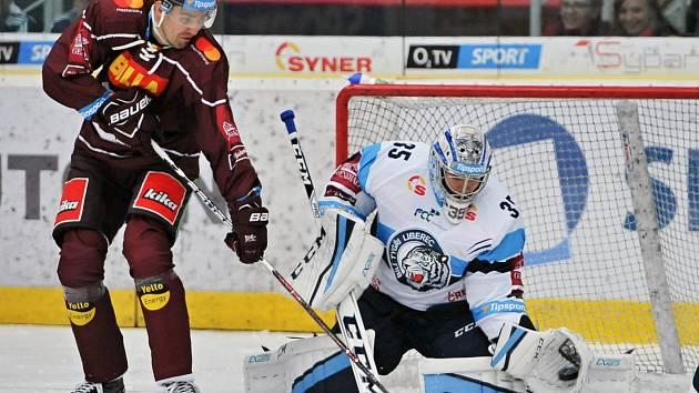Hokejisté Liberce podlehli doma Spartě.