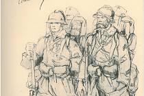 Kresba legionářů bude výstavu zahajovat.