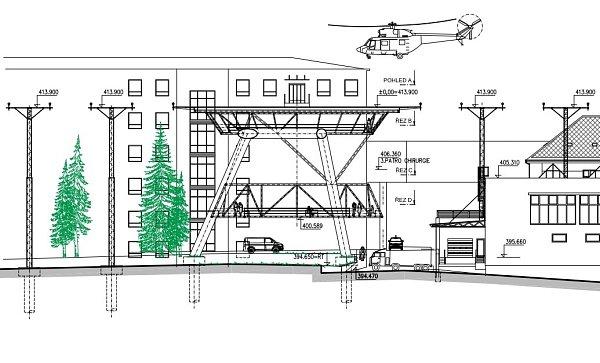 Plánovaný heliport liberecké nemocnice