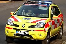Ilustrační. Lékařský automobil Renault Koleos Zdravotnické záchranné služby Libereckého kraje.
