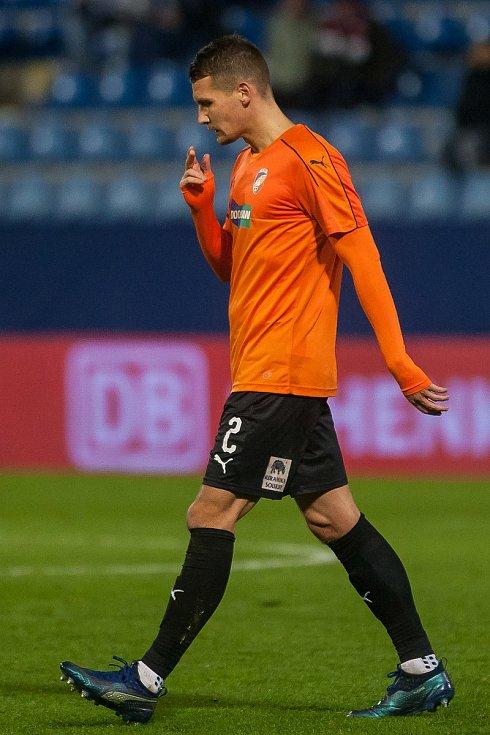 Zápas 16. kola první fotbalové ligy mezi týmy FC Slovan Liberec a FC Viktoria Plzeň se odehrál 23. listopadu na stadionu U Nisy v Liberci. Na snímku je Lukáš Hejda.
