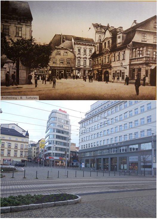 Soukenné náměstí, srovnávací fotografie.