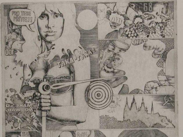 SOUSTŘEDĚNÝ POHLED. Mezi 160 vybranými grafikami nebude chybět ani dílo Jana Krejčího.
